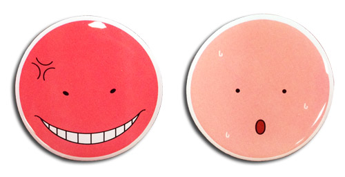 Assassination Classroom - Koro Angry & Hot Pin, an officially licensed Assassination Classroom product at B.A. Toys.
