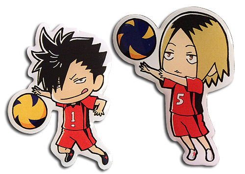 Haikyu!! - Tetsuro & Kenmai Pins officially licensed Haikyu!! Pins & Badges product at B.A. Toys.