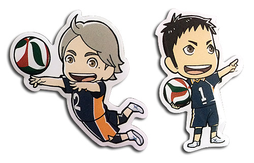 Haikyu!! - Daichi & Koshi Pins officially licensed Haikyu!! Pins & Badges product at B.A. Toys.