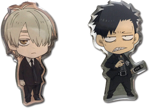 Gangsta - Worick & Marco Pins officially licensed Gangsta Pins & Badges product at B.A. Toys.