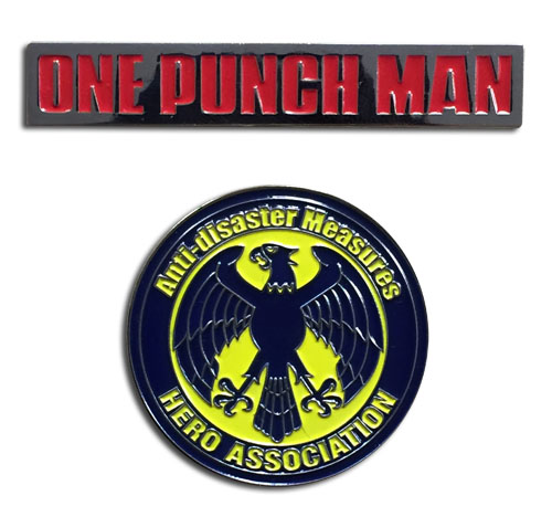 One Punch Man - Hero Association & Opm Pins officially licensed One-Punch Man Pins & Badges product at B.A. Toys.