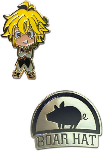 The Seven Deadly Sins - Meliodas & Boar Hat Pins officially licensed The Seven Deadly Sins Pins & Badges product at B.A. Toys.