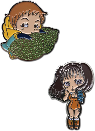 The Seven Deadly Sins - King & Diane Pins officially licensed The Seven Deadly Sins Pins & Badges product at B.A. Toys.