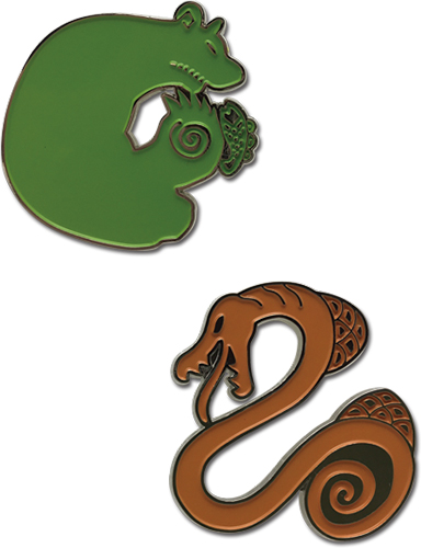 The Seven Deadly Sins - Sin Of Envy & Sin Of Sloth Pins officially licensed The Seven Deadly Sins Pins & Badges product at B.A. Toys.