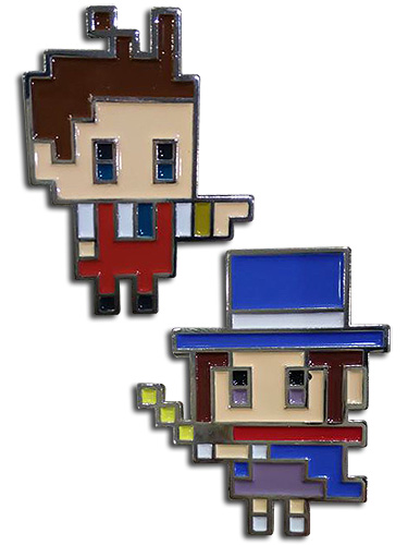 Ace Attorney - Apollo & Trucy Pins, an officially licensed Ace Attorney product at B.A. Toys.