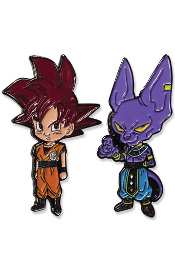 Dragon Ball Super - Ssg Goku & Beerus Pins officially licensed Dragon Ball Super Pins & Badges product at B.A. Toys.