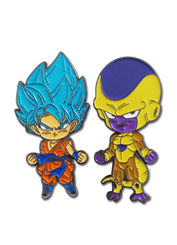 Dragon Ball Super - Ssgss Goku & Golden Frieza Pins officially licensed Dragon Ball Super Pins & Badges product at B.A. Toys.