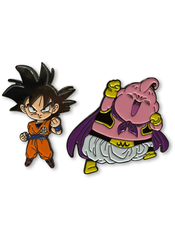 Dragon Ball Super - Goku & Buu Pin Set officially licensed Dragon Ball Super Pins & Badges product at B.A. Toys.