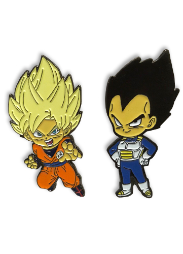 Dragon Ball Super - Vegeta & Frieza Pin Set officially licensed Dragon Ball Super Pins & Badges product at B.A. Toys.