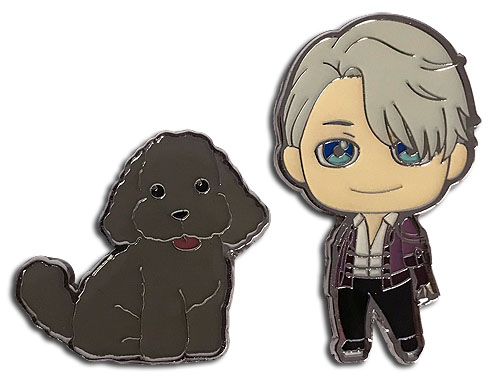 Yuri On Ice!!! - Victor & Makkachin Pins officially licensed Yuri!!! On Ice Pins & Badges product at B.A. Toys.