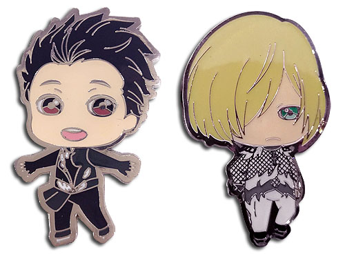 Yuri On Ice!! - Yuri & Yurio Pins officially licensed Yuri!!! On Ice Pins & Badges product at B.A. Toys.