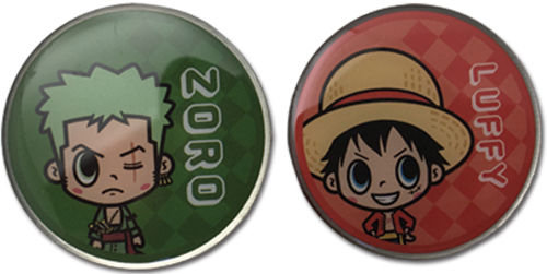 One Piece - Luffy & Zoro Pins officially licensed One Piece Pins & Badges product at B.A. Toys.