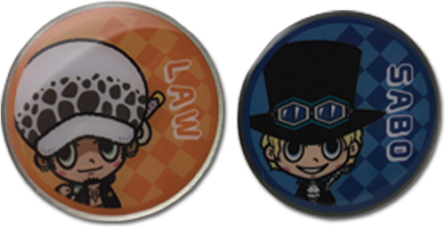 One Piece - Law & Sabo Pins officially licensed One Piece Pins & Badges product at B.A. Toys.