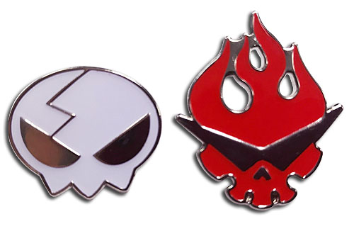 Gurren Lagann - Dai Gurren & Yoko Skull Pins officially licensed Gurren Lagann Pins & Badges product at B.A. Toys.