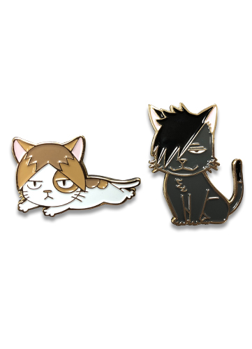 Haikyu!! - Kuroo Cat & Kozume Cat Pins officially licensed Haikyu!! Pins & Badges product at B.A. Toys.