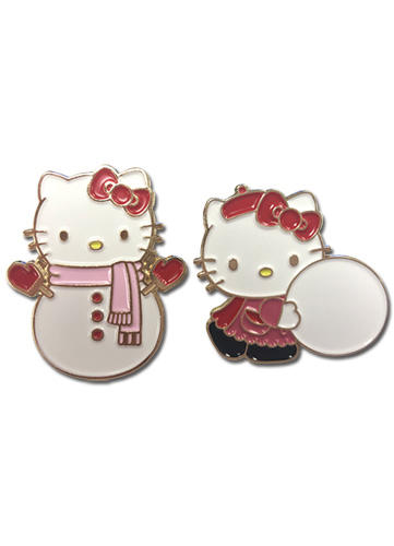 Hello Kitty - Holiday 2017 Enamel Pins officially licensed Hello Kitty Pins & Badges product at B.A. Toys.