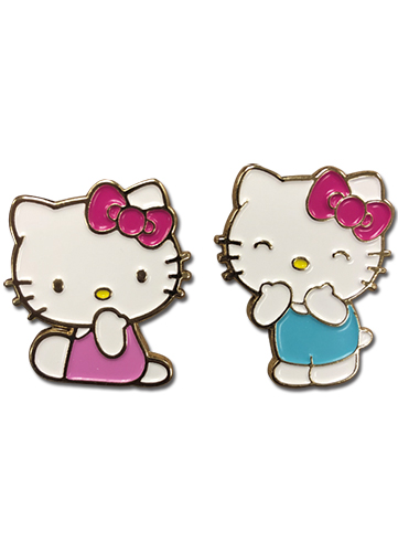 Hello Kitty - Valentine's 2016 Enamel Pins officially licensed Hello Kitty Pins & Badges product at B.A. Toys.