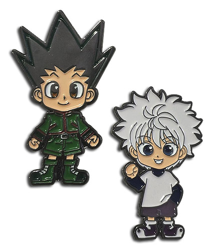 Hunter X Hunter - Gon & Kirua Enamel Pins officially licensed Hunter X Hunter Pins & Badges product at B.A. Toys.