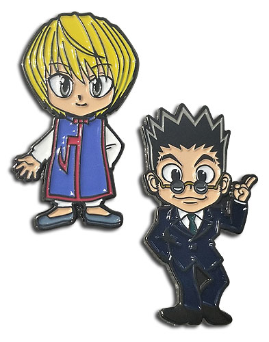 Hunter X Hunter - Kurapika & Reolion Enamel Pins officially licensed Hunter X Hunter Pins & Badges product at B.A. Toys.
