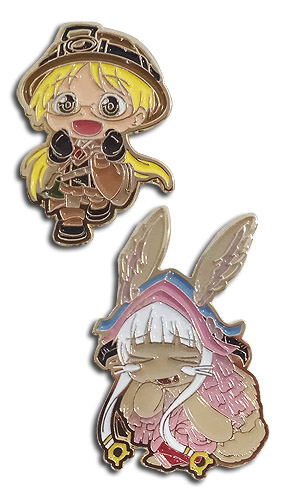 Made In Abyss - Riko & Nanati Pins officially licensed Made In Abyss Pins & Badges product at B.A. Toys.