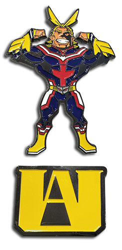 My Hero Academia - Ua Hs & Allmight Pin officially licensed My Hero Academia Pins & Badges product at B.A. Toys.