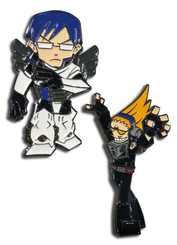 My Hero Academia - Tenya & Present Mic Pins officially licensed My Hero Academia Pins & Badges product at B.A. Toys.