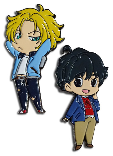 Banana Fish - Ash & Eiji Pins, an officially licensed Banana Fish product at B.A. Toys.