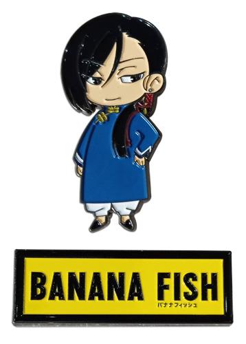 Banana Fish - Yut-Lung & Logo Pins, an officially licensed Banana Fish product at B.A. Toys.