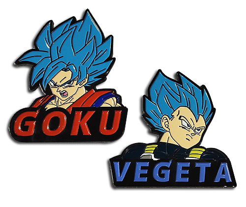 Dragon Ball Super Broly - Ssgss Goku & Ssgss Vegeta Pins officially licensed Dragon Ball Super Broly Pins & Badges product at B.A. Toys.