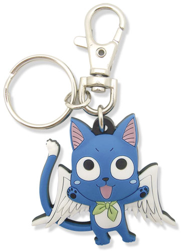 Fairy Tail Sd Happy Pvc Keychain, an officially licensed product in our Fairy Tail Key Chains department.