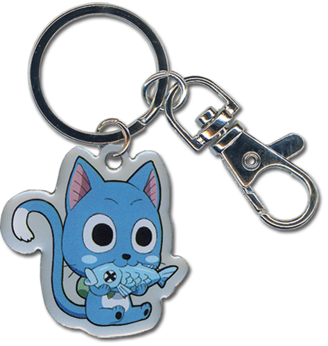 Fairy Tail Happy Metal Keychain, an officially licensed Fairy Tail Key Chain