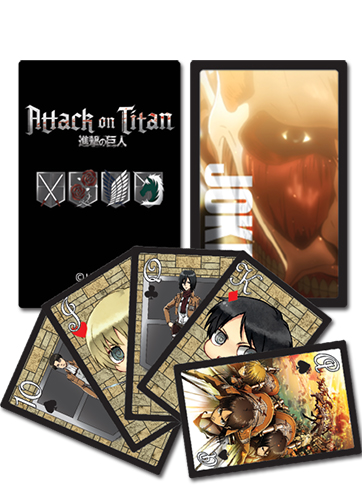 Attack On Titan - Playing Cards, an officially licensed product in our Attack On Titan Playing Cards department.