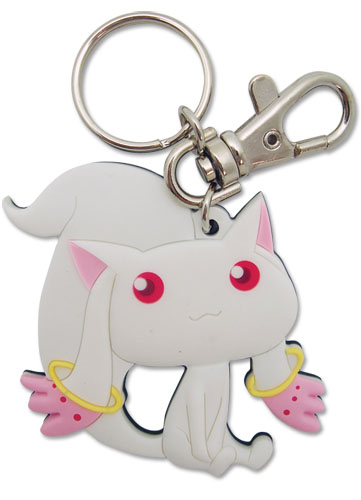 Madoka Magica Kyubey Pvc Keychain, an officially licensed product in our Madoka Magica Key Chains department.