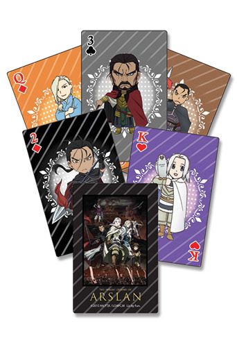 Heroic Legend Of Arslan - Playing Cards officially licensed Heroic Legend Of Arslan Playing Cards product at B.A. Toys.