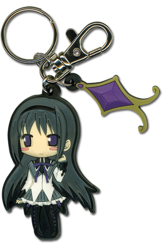 Madoka Magica Homura Pvc Keychain, an officially licensed product in our Madoka Magica Key Chains department.