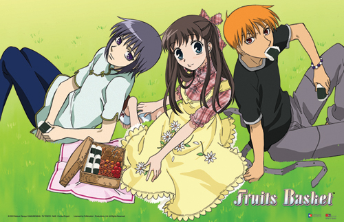 Fruits Basket Tohru, Yuki, And Kyo Poster, an officially licensed Fruits Basket 2d Posters