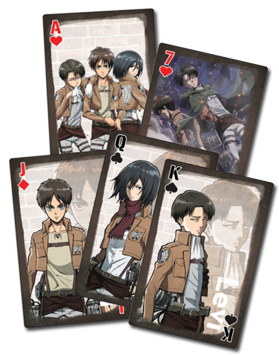 Attack On Titan - Style 2 Playing Cards, an officially licensed Attack On Titan product at B.A. Toys.