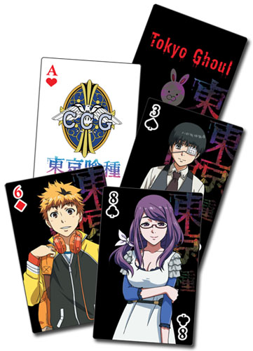 Tokyo Ghoul - Tv Screenshots Playing Cards officially licensed Tokyo Ghoul Playing Cards product at B.A. Toys.