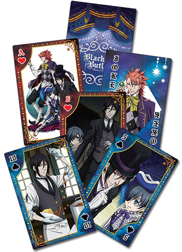 Black Butler B.O.C. - Circus Playing Cards, an officially licensed Black Butler Book Of Circus product at B.A. Toys.