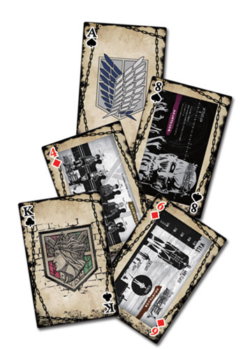 Attack On Titan - Eye Catch Artwork Group Playing Cards, an officially licensed Attack On Titan product at B.A. Toys.