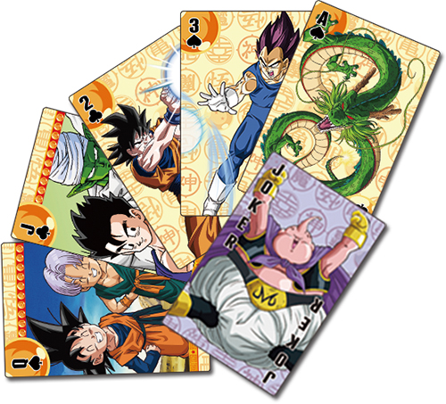 Dragon Ball Z - Goku Symbol Playing Cards officially licensed Dragon Ball Z Playing Cards product at B.A. Toys.