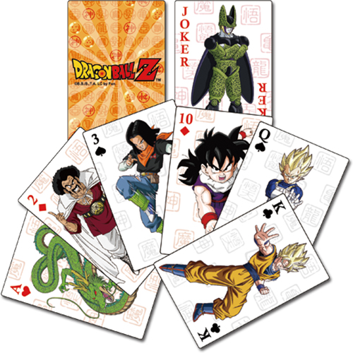 Dragon Ball Z - Group Playing Cards officially licensed Dragon Ball Z Playing Cards product at B.A. Toys.