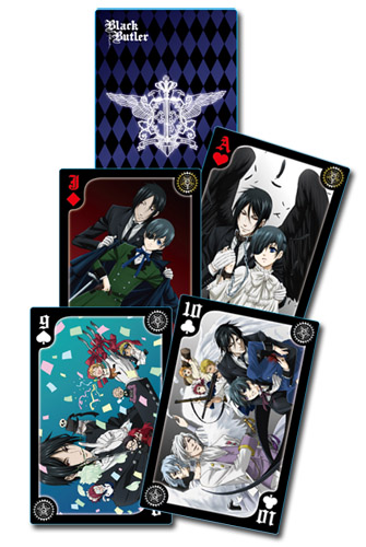 Black Butler - Group Playing Cards, an officially licensed product in our Black Butler Playing Cards department.