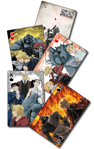 Fullmetal Alchemist Brotherhood - Group Playing Cards officially licensed Fullmetal Alchemist Playing Cards product at B.A. Toys.