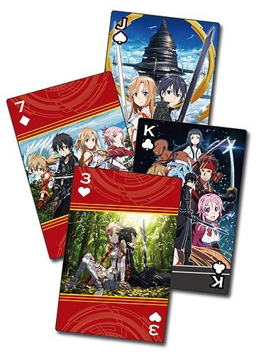 Sword Art Online - Group Playing Cards, an officially licensed product in our Sword Art Online Playing Cards department.