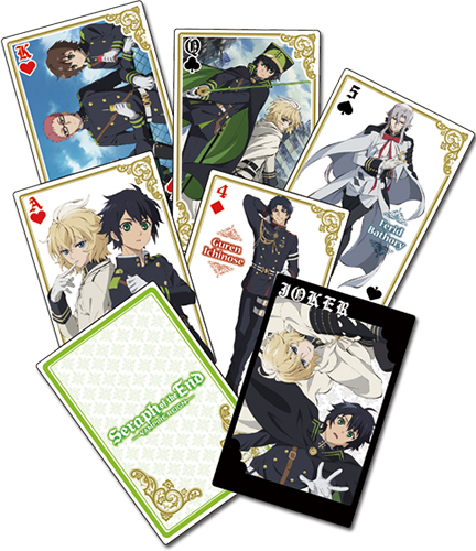 Seraph Of The End - Group Playing Cards, an officially licensed product in our Seraph Of The End Playing Cards department.
