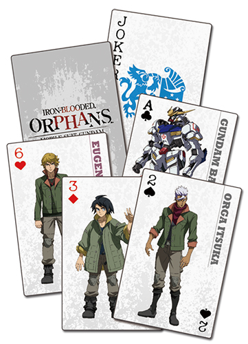 Gundam Ibo - Group Playing Cards, an officially licensed product in our Gundam Iron-Blooded Orphans Playing Cards department.