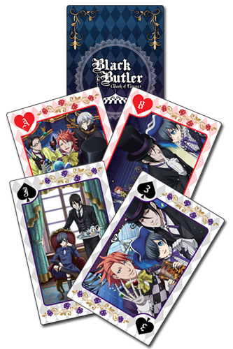 Black Butler B.O.C. - Group Playing Cards, an officially licensed Black Butler Book Of Circus product at B.A. Toys.