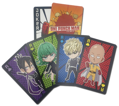 One Punch Man - Sd 1 Characters Playing Cards, an officially licensed product in our One-Punch Man Playing Cards department.