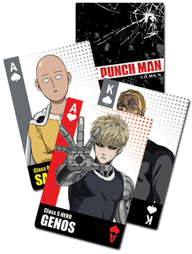 One Punch Man - Characters Bust Group Playing Cards, an officially licensed product in our One-Punch Man Playing Cards department.